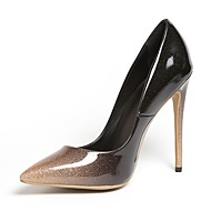 baratos Sapatos Femininos-Mulheres Sapatos Couro Sintético Primavera Verão Plataforma Básica Saltos Salto Agulha Dedo Apontado Vermelho / Amêndoa / Festas & Noite