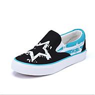 baratos Sapatos de Menino-Para Meninos / Para Meninas Sapatos Lona / Couro Ecológico Primavera Conforto Mocassins e Slip-Ons Cadarço para Preto / Vermelho / Azul
