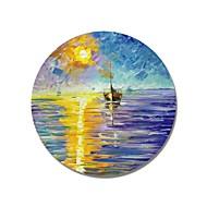 voordelige -Hang-geschilderd olieverfschilderij Handgeschilderde - Landschap Hedendaags / Modern Kangas