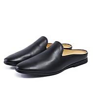 baratos Sapatos Masculinos-Homens Pele Napa Verão Conforto Tamancos e Mules Branco / Preto