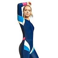 Mulheres Segunda-pele para Mergulho Design Anatômico, Permeável á Humidade, Redutor de Suor Elastano Corpo Inteiro Roupa de Banho Roupa de Praia Roupa de Banho Zíper Frontal Surfe / Windsurf