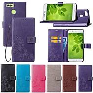 billiga Mobil cases & Skärmskydd-fodral Till Huawei Y7 Prime (2018) / P smart Plånbok / Korthållare / med stativ Fodral Mandala / Fjäril Hårt PU läder för Y9 (2018)(Enjoy 8 Plus) / Nova 2 / Nova