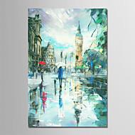 baratos -Pintura a Óleo Pintados à mão - Abstrato / Paisagem Modern Tela de pintura