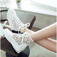 baratos Sapatos Femininos-Mulheres Sapatos Couro Ecológico Primavera Verão Conforto Tênis Sem Salto Dedo Fechado Branco / Rosa claro / Azul Claro