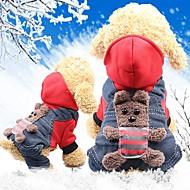 Mus & rotter / Hunder / Katter Frakker Hundeklær Dyr / Figurer Gul / Rød Bomull Kostume For kjæledyr Dame Sport og friluft / Hodevarmere