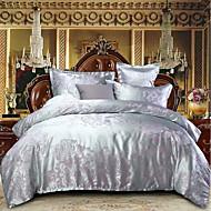 布団カバーセット 贅沢 ポリスター ジャカード織 4個Bedding Sets / 300 / 4枚(1x布団カバー、1xフラットシート、2xシャム)