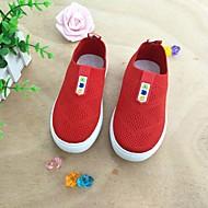 baratos Sapatos de Menina-Para Meninas Sapatos Tricô Primavera Verão Conforto Mocassins e Slip-Ons Caminhada para Infantil Preto / Vermelho