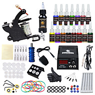 abordables Tatouage, Body Art-DRAGONHAWK Machine à tatouer Kit pour débutant - 1 pcs Machines de tatouage avec 15*5 ml encres de tatouage, Tout en un, Sécurité, Facile à installer Alliage LCD alimentation Case Not Included 1