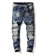 Herre Bomuld Jeans / Chinos Bukser - Nitte / Hul, Ensfarvet