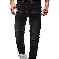 Men's Basic Plus Size Jeans Pants - Solid Colored