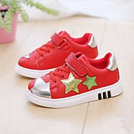 baratos Sapatos de Menina-Para Meninas Sapatos Lona Primavera Verão Conforto Tênis Caminhada para Infantil Branco / Preto / Vermelho