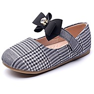 baratos Sapatos de Menina-Para Meninas Sapatos Sintéticos Primavera & Outono Conforto / Sapatos para Daminhas de Honra Rasos Pedrarias / Laço / Velcro para Infantil Azul / Branco / Preto / Festas & Noite