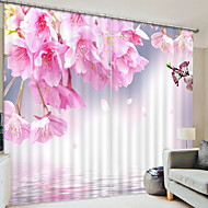 3D Curtains Bedroom Geometric Polyester Printed Blackout