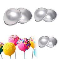 billige Bakeredskap-Bakeware verktøy Aluminium Multifunksjonell / 3D / GDS For Iskrem / spirende Rund Cake Moulds 6pcs