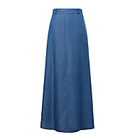 Dame Maxi Kroge til store fisk Nederdele - I-byen-tøj Ensfarvet Høj Talje