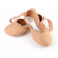 billige Ballettsko-Dame Ballettsko Elastisk stoff Joggesko Flat hæl Dansesko Oransje / Rosa