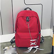 billige Skoletasker-Dame Tasker Lærred Skoletaske Sløjfe(r) Rød / Lyserød / Grå