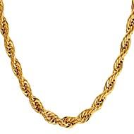 Muškarci Uže Choker oglice Ogrlica Tikovina Zlato Crn Pink 55 cm Ogrlice Jewelry 1pc Za Dar Dnevno
