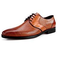baratos Sapatos Masculinos-Homens Sapatos formais Couro de Porco Primavera Oxfords Preto / Marron