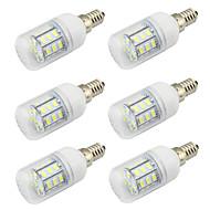 billige Globepærer med LED-WeiXuan 6pcs 4 W 350 lm E26 / E27 LED-globepærer 27 LED perler SMD 5730 Dekorativ Varm hvit / Kjølig hvit 12-24 V