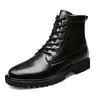 tanie Obuwie męskie-Męskie Komfortowe buty Skóra nappa / Mikrowłókno Zima Botki Kozaczki / kozaki do kostki Czarny / Jasnobrązowy
