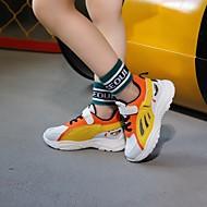 baratos Sapatos de Menina-Para Meninas Sapatos Couro Ecológico Primavera Verão Conforto Tênis Caminhada para Adolescente Preto / Laranja / Rosa claro
