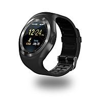 olcso -Intelligens Watch Y1 mert iOS / Android Vízálló / Elégetett kalória / Hosszú készenléti idő / Kéz nélküli hívások / Érintőképernyő Lépésszámláló / Hívás emlékeztető / Testmozgásfigyelő / ül / 150-200