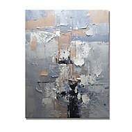 baratos -Pintura a Óleo Pintados à mão - Abstrato Contemprâneo / Modern Tela de pintura
