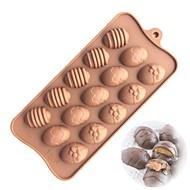 billige Bakeredskap-15 hull påske egg silikon kake mold diy sjokolade fondant mold
