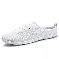 tanie Obuwie męskie-Męskie Komfortowe buty Len Lato Chodaki i klapki Biały / Czarny / Beżowy