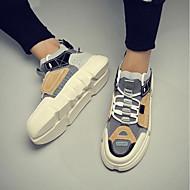 baratos Sapatos Masculinos-Homens Sapatos Confortáveis Pele Outono & inverno Tênis Branco / Bege / Arco-íris / Ao ar livre