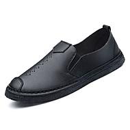 baratos Sapatos Masculinos-Homens Mocassim Couro de Porco Outono Mocassins e Slip-Ons Branco / Preto / Marron