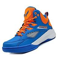 baratos Sapatos de Menino-Para Meninos Sapatos Couro Ecológico Outono Conforto Tênis Basquete para Infantil Azul / Preto / Vermelho