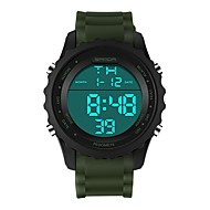 SANDA Herre / Dame Sportsur / Digital Watch Japansk Kalender / Vandafvisende / Stopur Silikone Bånd Luksus / Mode Sort / Brun / Kaki