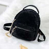 Žene Torbe Velvet ruksak Patent-zatvarač Crn / Blushing Pink / Sive boje