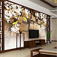 billige Tapet-bakgrunns / Veggmaleri Lerret Tapetsering - selvklebende nødvendig Blomstret / Art Deco / Flise