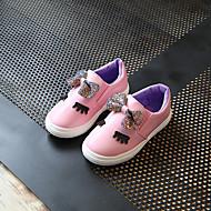 baratos Sapatos de Menina-Para Meninas Sapatos Couro Ecológico Primavera Verão Conforto Mocassins e Slip-Ons Caminhada para Adolescente Branco / Fúcsia / Rosa claro