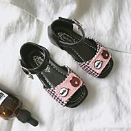 baratos Sapatos de Menina-Para Meninas Sapatos PVC Verão Conforto Sandálias Velcro para Bébé Branco / Rosa claro / Ponta quadrada / Estampa Colorida