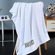 billiga Handdukar och badrockar-Överlägsen kvalitet Badhandduk, Enfärgad / Geometrisk Polyester / Bomull Blandning Badrum 1 pcs