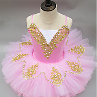 cheap -Ballet Dresses Girls' Performance Spandex Ruching Sleeveless Tutus