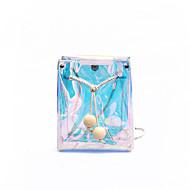 Women's Bags PVC(PolyVinyl Chloride) Mobile Phone Bag Solid White