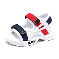baratos Sapatos de Menino-Para Meninos / Para Meninas Sapatos Com Transparência Verão Primeiros Passos Sandálias Velcro para Bebê Branco / Preto / Rosa claro / Peep Toe