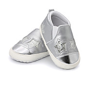 baratos Sapatos de Menino-Para Meninos / Para Meninas Sapatos Microfibra Primavera & Outono Primeiros Passos Tênis Velcro para Bebê Preto / Prateado / Rosa claro