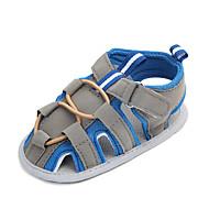 baratos Sapatos de Menino-Para Meninos Sapatos Algodão Verão Primeiros Passos Sandálias Velcro para Bebê Vermelho / Azul / Estampa Colorida