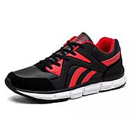 baratos Sapatos Masculinos-Homens Couro Ecológico Outono Conforto Tênis Caminhada Estampa Colorida Branco / Preto / Preto / Vermelho / Black / azul