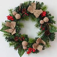 Χαμηλού Κόστους Χριστουγεννιάτικα Διακοσμητικά-Γιρλάντες Διακοπών Ξύλινος Κυκλικό ξύλινος Χριστούγεννα Διακόσμηση