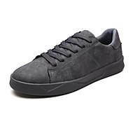 baratos Sapatos Masculinos-Homens Sapatos Confortáveis Camurça Outono Tênis Respirável Preto / Cinzento / Khaki