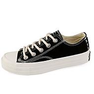 tanie Obuwie damskie-Damskie PU Lato Wulkanizowane buty Tenisówki Płaski obcas Okrągły Toe Biały / Czarny / Czerwony
