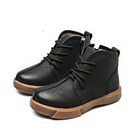 baratos Sapatos de Menino-Para Meninos Sapatos Pele Outono & inverno Conforto Botas para Preto / Amarelo