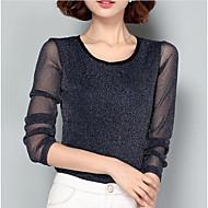 T-shirt Per donna Ufficio Essenziale / Moda città Retato, Tinta unita